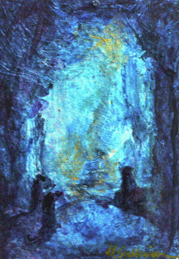 Lyrical Abstraction Painting - Nativity by Mary Sullivan