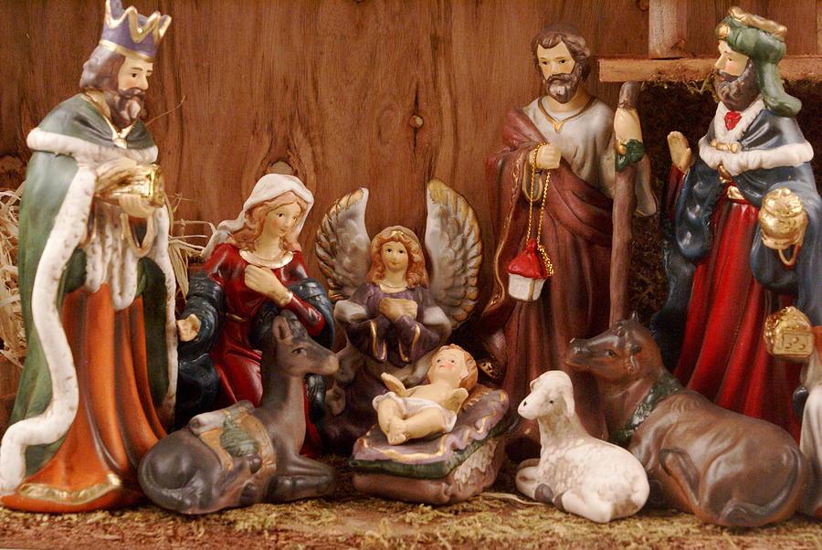 Nostalgia Greeting Card   Nativity Scene By Sonja Anderson