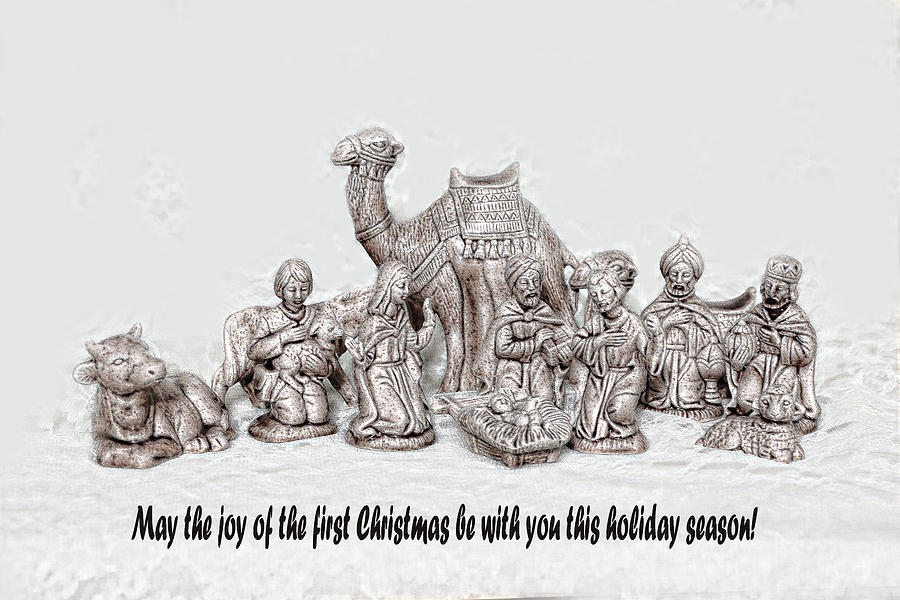 Holiday Photograph - Nativity Scenne Sketch by Linda Phelps