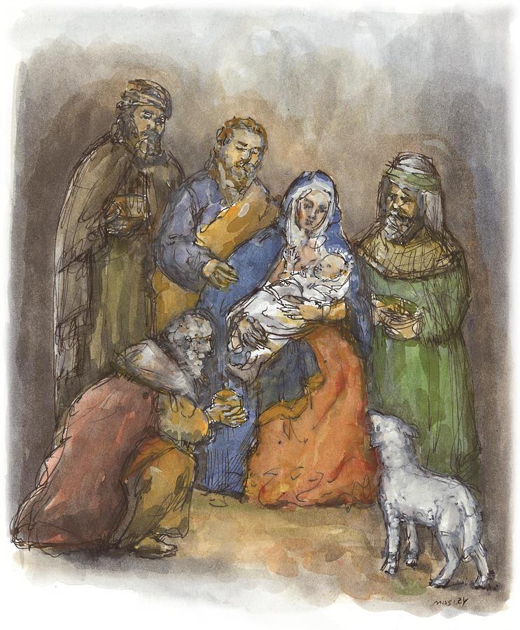 Nativity Painting - Nativity by Walter Lynn Mosley