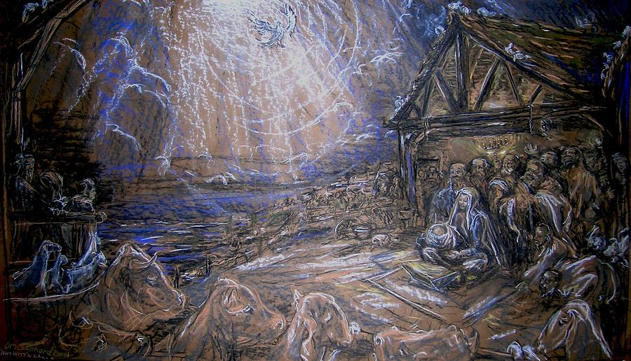 Holidays Painting - Nativity by William Mark  Coulthard