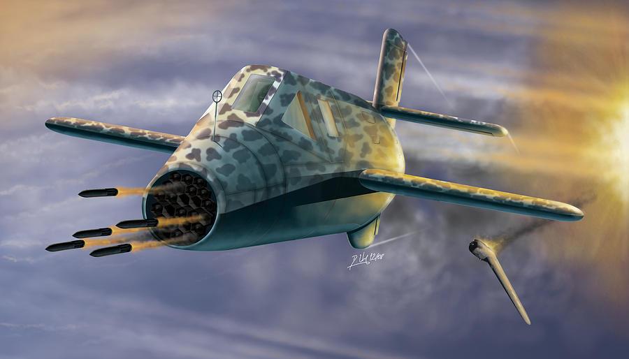 Aircraft Digital Art - Natter by Daniel Uhr