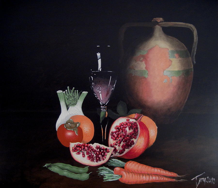 Fruit Painting - Natura Che Vive by Luigi Torre