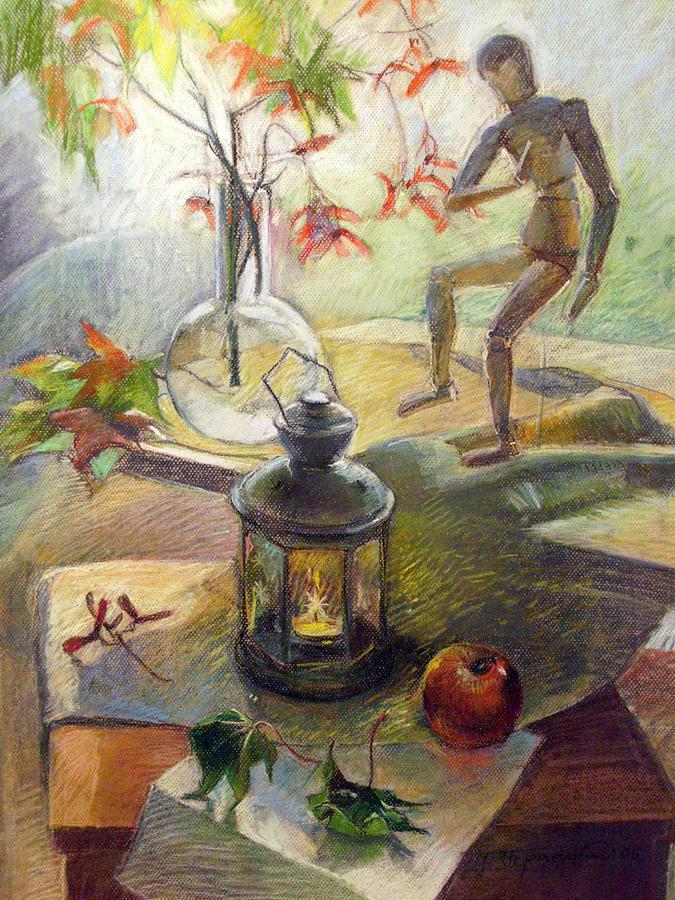 Natura Morta Contro Luce Painting by Jelena Stepanova-Abate