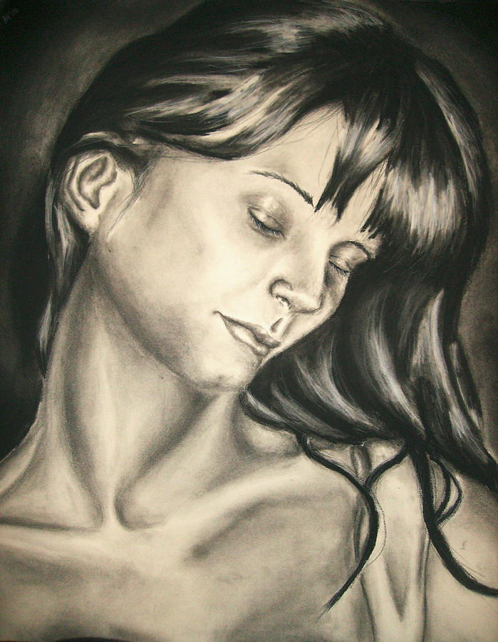 Woman Drawing - Natural Beauty by Ashley Warbritton