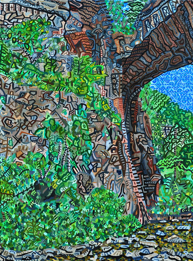 Natural Bridge Painting - Natural Bridge by Micah Mullen