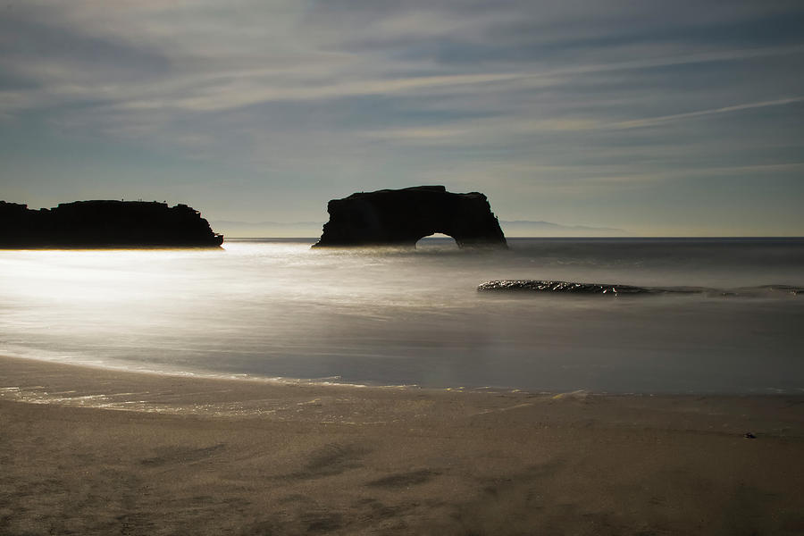 Natural Bridges State Beach Sand by Wes Jimerson
