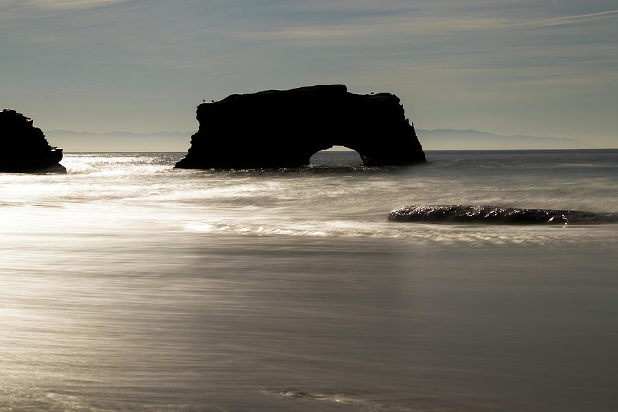 Natural Bridges State Beach water by Wes Jimerson