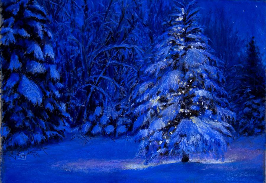 Landscape Pastel - Natural Christmas Tree by Susan Jenkins