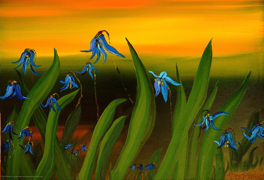 Sunset Painting - Natural Diversity II by Gregory Allen Page