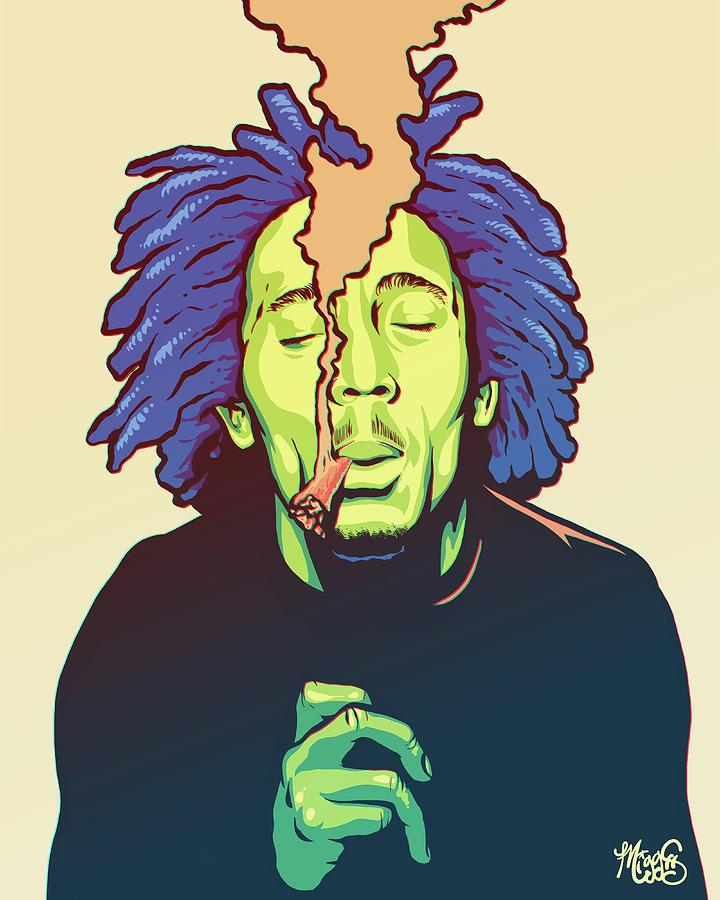 Bob Marley Drawing - Natural Mystic by Miggs The Artist