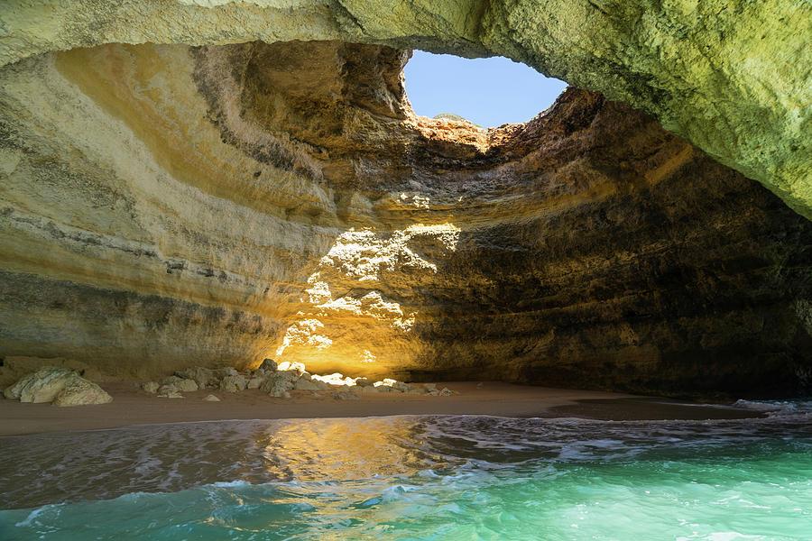 Natural Oculus - Inside the Iconic Algar de Benagil Sea Cave in Algarve Portugal by Georgia Mizuleva