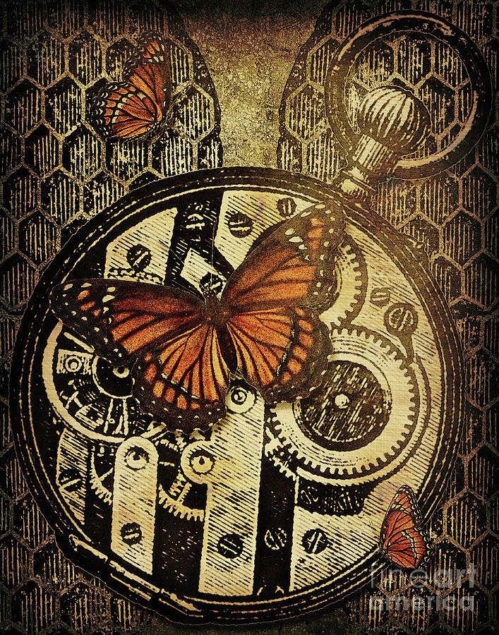 Steampunk Digital Art - Like Clockwork by Kenneth Rougeau