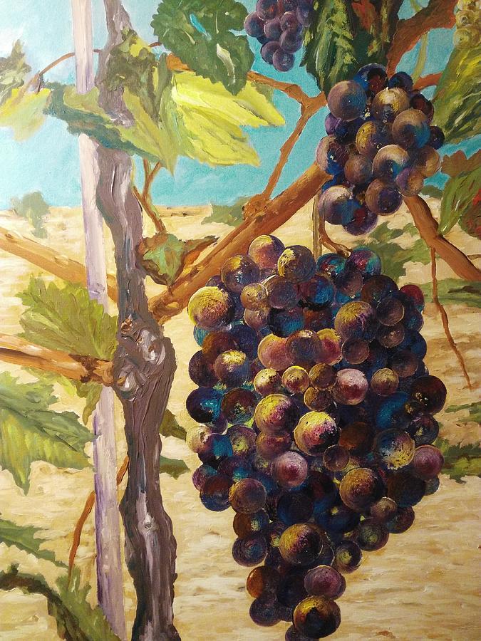 Vineyards Painting - Natures Abundance by Ray Khalife