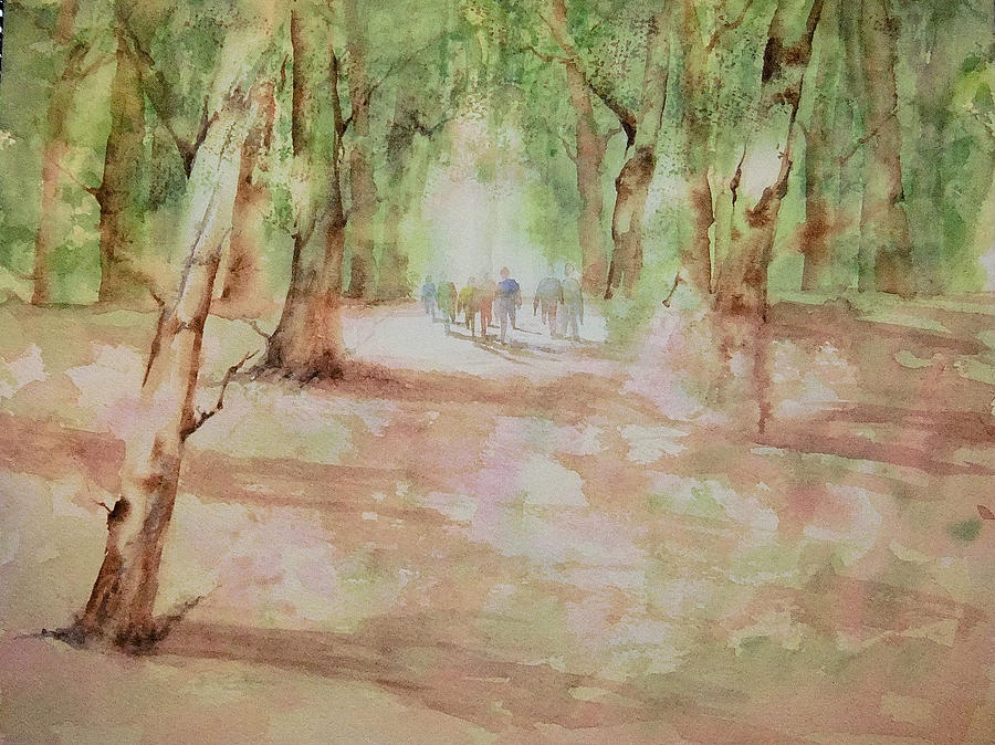 Watercolor Painting - Nature At The Nature Center by Debbie Lewis