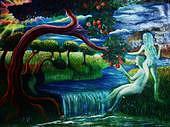 Nature Painting - Nature by Dinesh VRamalingam
