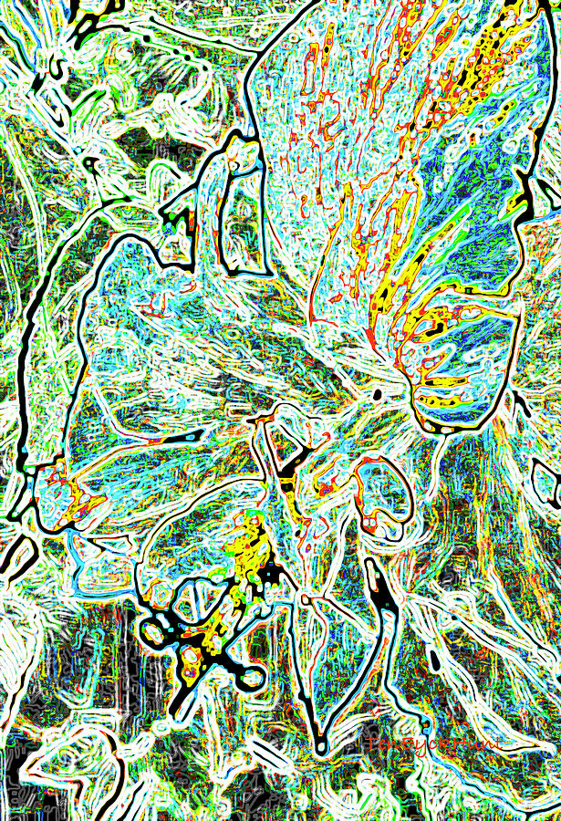 Nature gone digital-Hibiscus  by Gretchen Ten Eyck Hunt