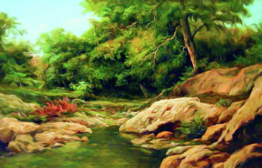 Landscape Impressionism Mixed Media - Nature Is Beautiful Impressionism by Georgiana Romanovna