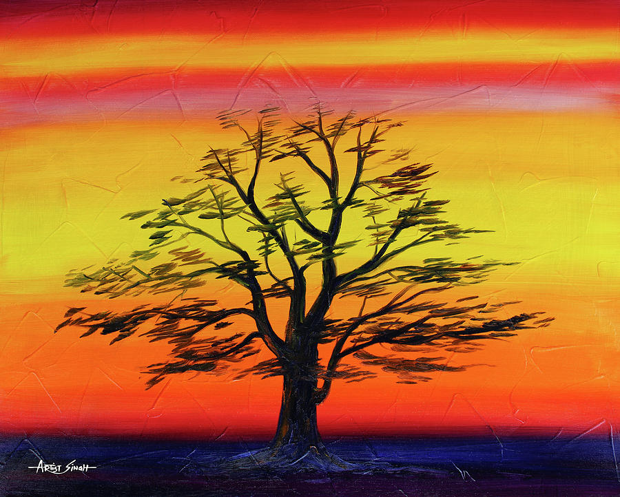 nature of brightness painting by world of quotes artist singh