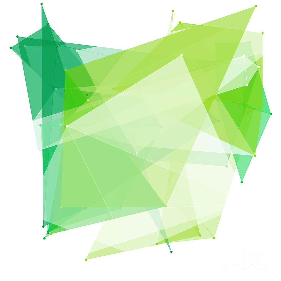 Abstract Digital Art - Nature Polygon Pattern by Frank Ramspott
