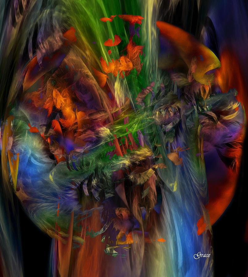 Nature Digital Art - Nature Spilling Over by Julie Grace