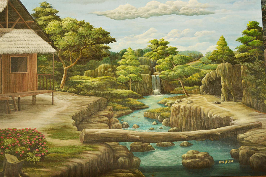 Nature View Painting By Boy Velara