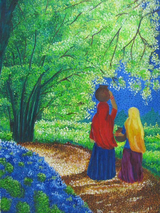 Nature Walk Painting by Reeta  Arora