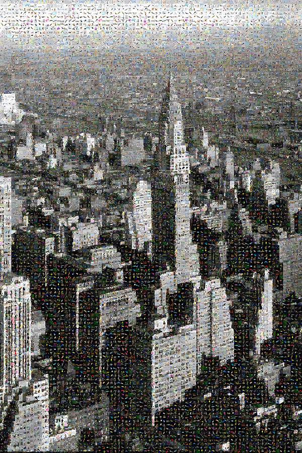 Mosaic Digital Art - Nature York City by Gilberto Viciedo