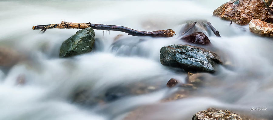 Water Photograph - Natures Balance - White Water Rapids by Steven Milner