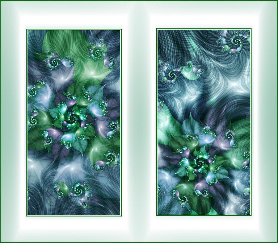 Fractal Print - Natures Eddies by Cornelia Yoder