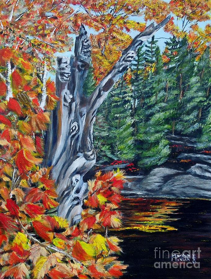 Foliage Painting - Natures Faces by Marilyn  McNish