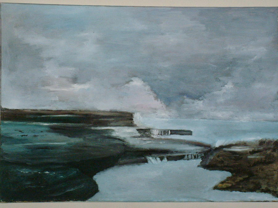 Oil Painting - Natures Fury by Andrew Davies