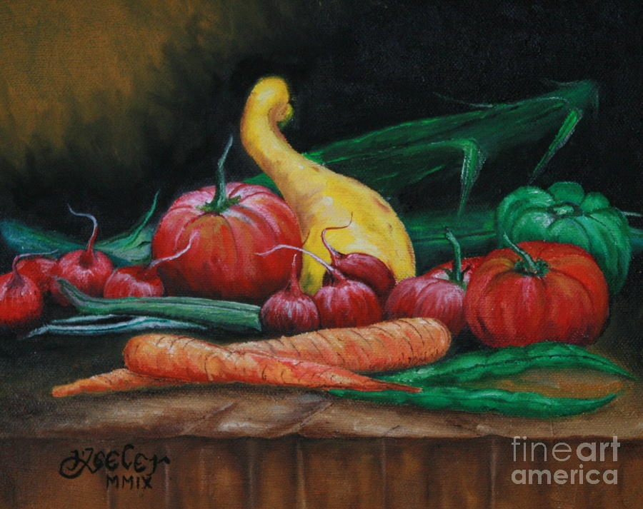 Vegetables Painting - Natures Gift by Christopher Keeler Doolin