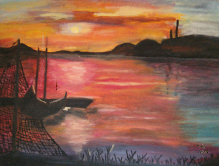 Seascape Painting - Natures Glory by Mikki Alhart