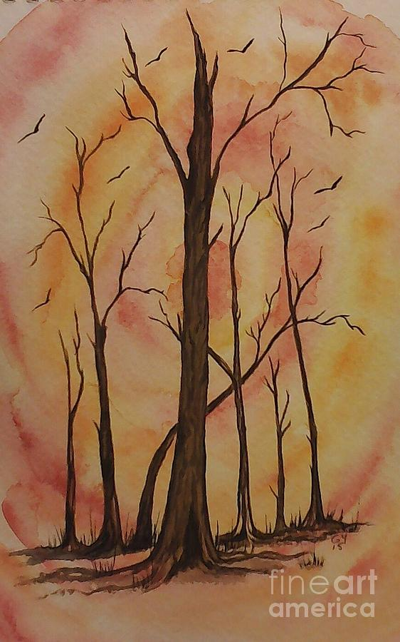 Sunset Painting - Natures Guardian by Ginny Youngblood