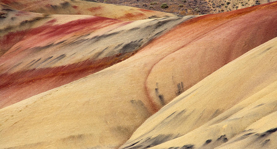 Painted Hills Photograph - Natures Palette by Mike  Dawson