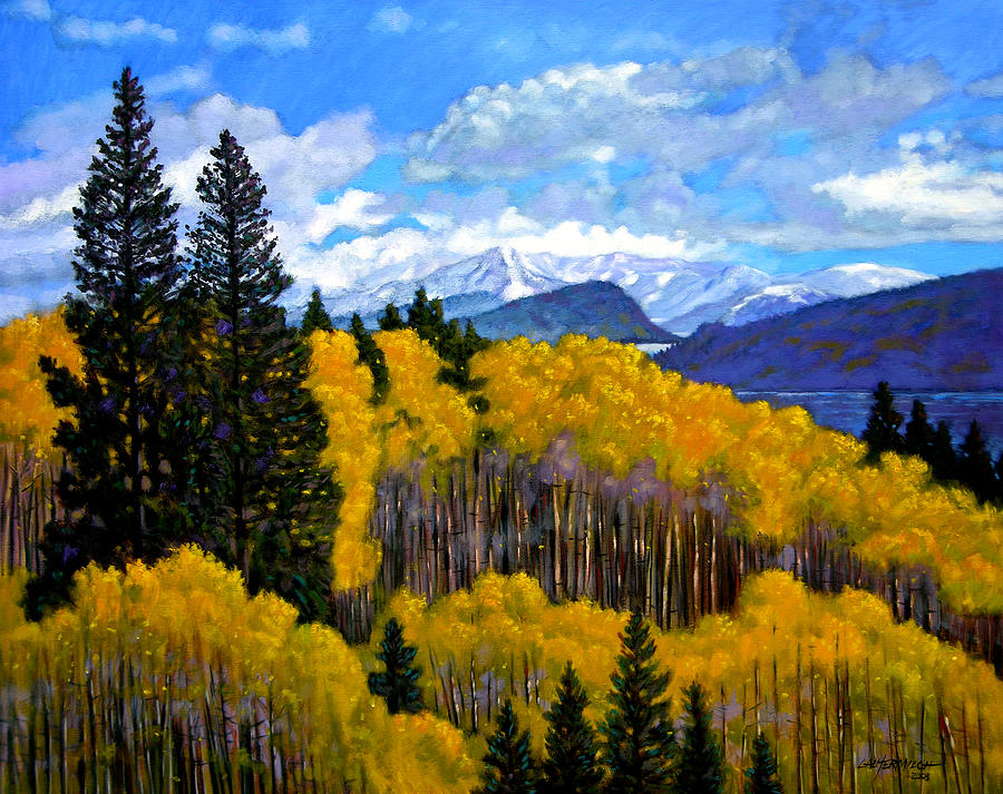 Fall Painting - Natures Patterns - Rocky Mountains by John Lautermilch