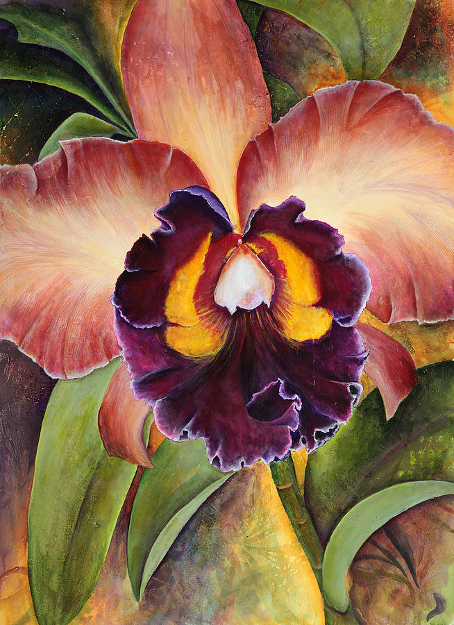 Chocolate Orchid Painting - Natures Rhapsody 1 by Jean Rascher