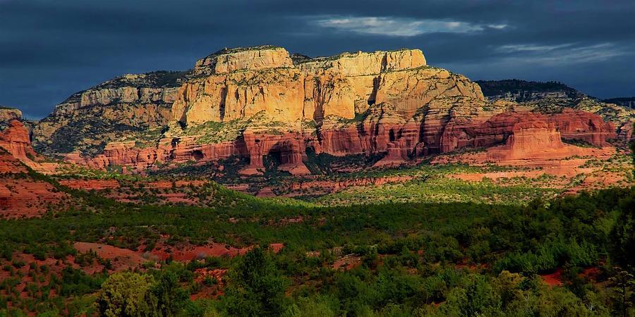 Nature Photograph - Natures Spotlight, Sedona, Arizona by Zayne Diamond Photographic