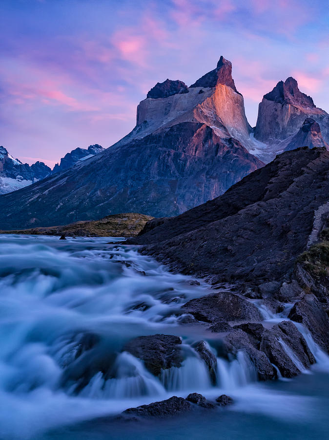 Andes Photograph - Natures Sunrise Canvas by Dan Leffel