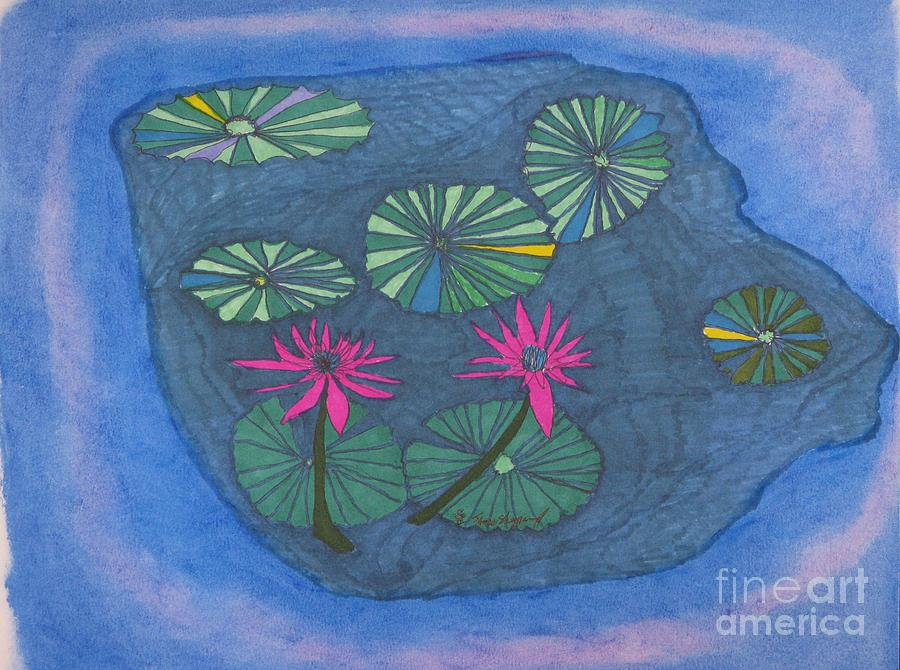 Natures Wheels In A Pond Mixed Media by James SheppardIII