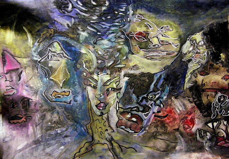 Gnome Painting - Naturgeister Nature Spirits by Mimulux patricia No