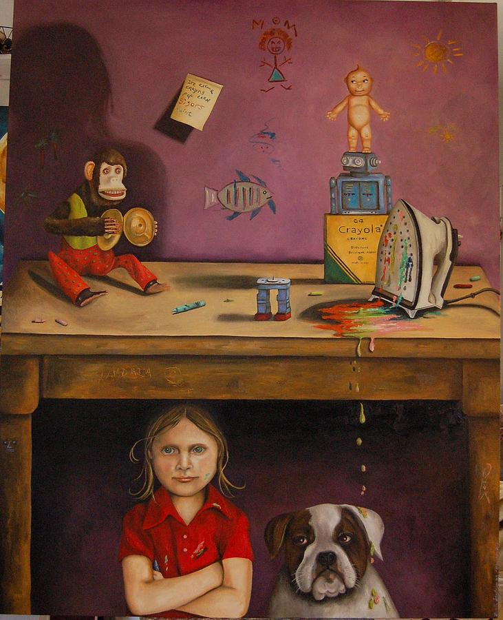 Monkey Painting - Naughty Child by Leah Saulnier The Painting Maniac