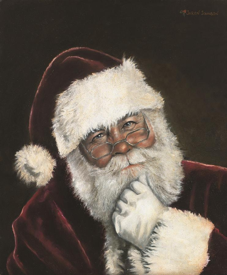 Santa Claus Painting - Naughty or Nice by Jaren Johnson