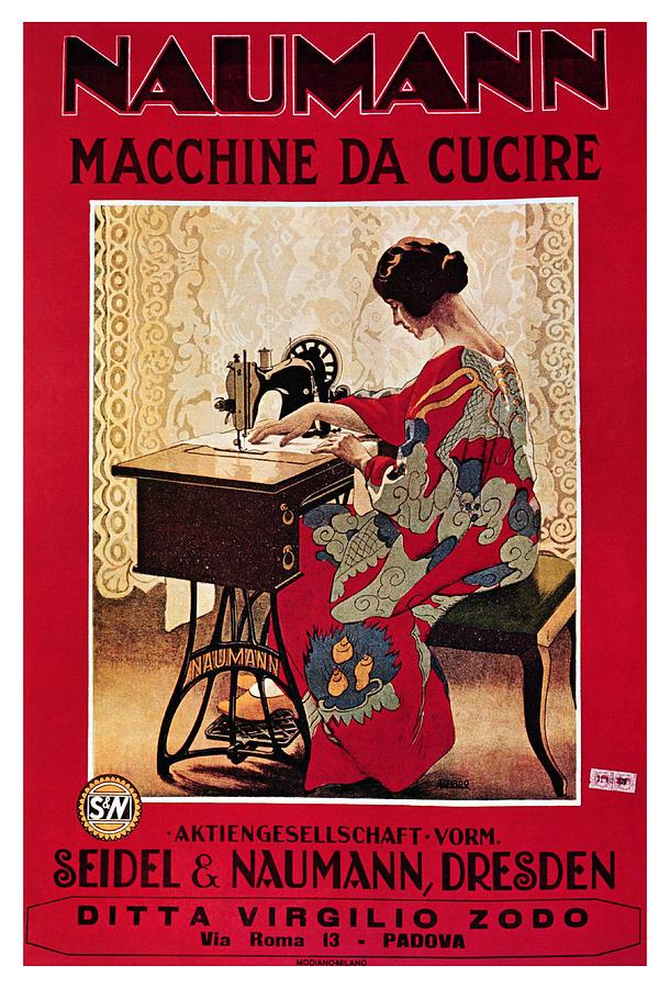 Naumann - Sewing Machines - Vintage Advertising Poster Mixed Media