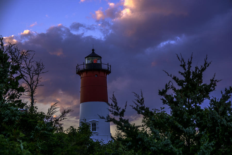 Lighthouse Photograph - Nauset Light At Sunset by Mary Clough
