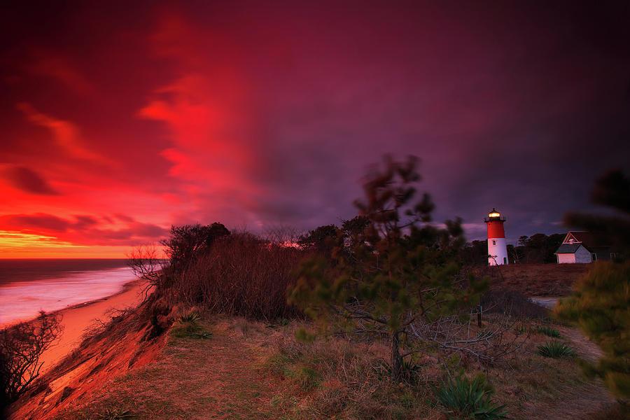 Nauset Photograph - Nauset Lighthouse Sunrise by Dapixara Art