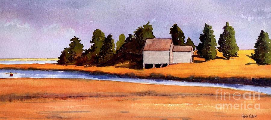 Nauset Marsh Boathouse, Fall by Heidi Gallo