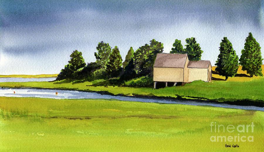 Nauset Marsh Boathouse, Summer by Heidi Gallo