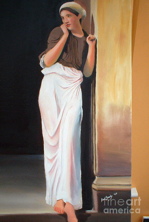 Figurative Painting - Nausicaa    After Lord Frederic Leighton by Alan Brady